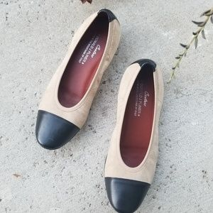 Donald J. Pliner Cream Black Leather Ballet Flat 5